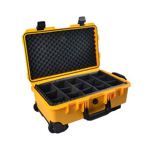 OEM Factory Wholesale Waterproof Trolley Tool Box Hard ABS Plastic Flight Case with Wheel