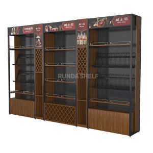 Houten Wijn Whiskey Fles Display Stand Armaturen Plank