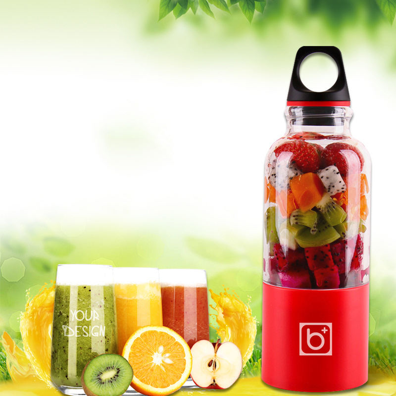 500ml Portable Juicer Cup USB Rechargeable Electric Automatic Bingo Vegetables Fruit Juice Tools Maker Cup Blender