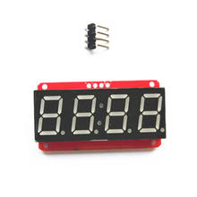 Good quality red pcb board  7-Segment Backpack 4-Digit   digital tube 0.56 inch LED module for Arduino
