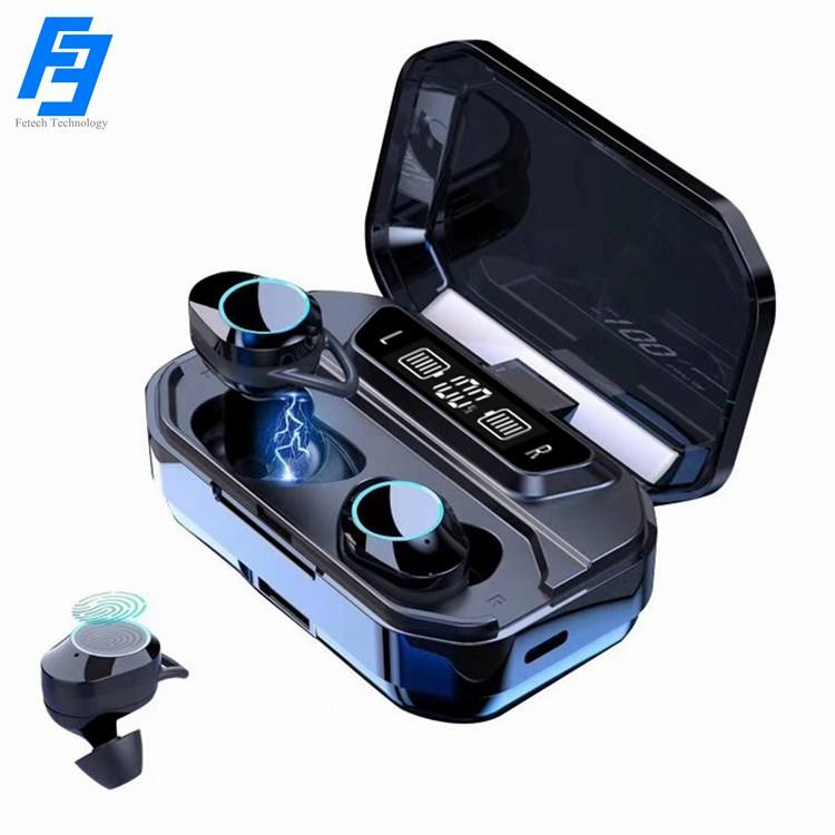 Factory Cheap Price G02 True Wireless Earbuds with Smart Touch Control Free Logo IPX-7 Sweatproof for Sports