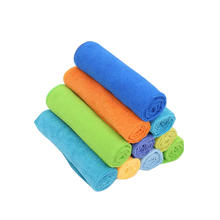 Microfiber logo house hotel cleaning cloth for bathroom mirror
