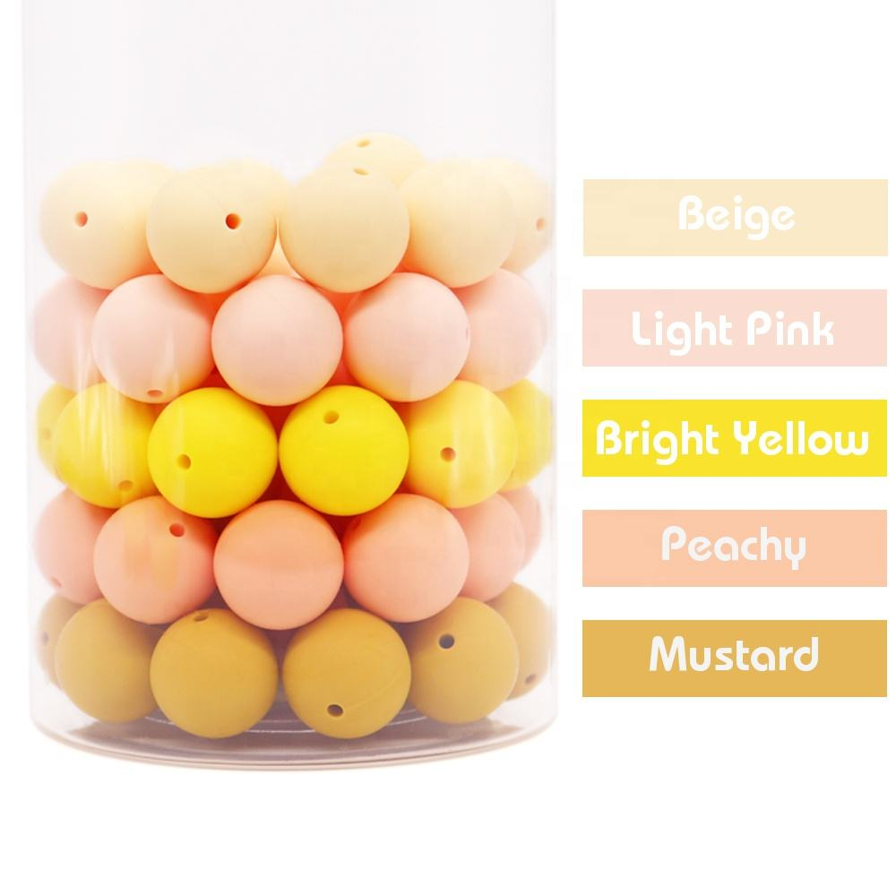 2021 Chinese Factory High Quality Baby Chewable Abacus Shaped Silicone Teether Beads
