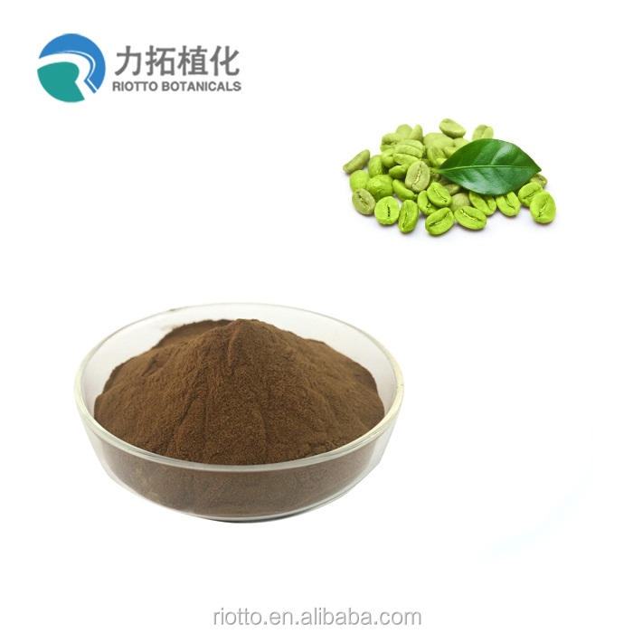 Best quality Chlorogenic acid 100% Natural green coffee bean extract powder
