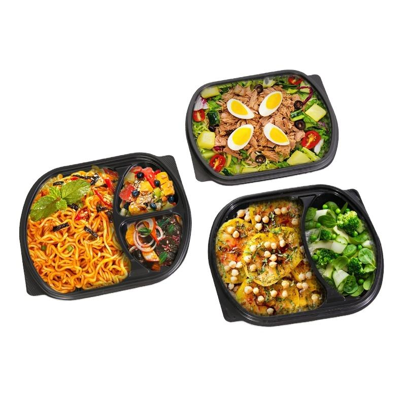 New Style Disposable Plastic Lunch Box Fast Food Containers, Food Packaging Box With Lid