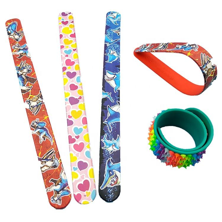 Factory customization personalized silicone slap bracelets Silicone Clap Bracelet