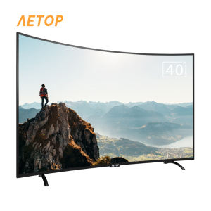 cheap television 40 inch tv lcd android smart television LED 2K curved tv flat screen with wifi