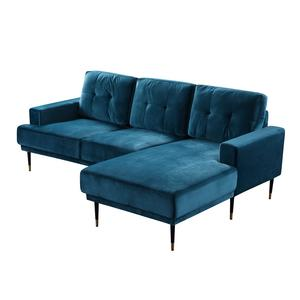 Wholesale Custom new design 7 seater L shape sectional living room fabric sofa