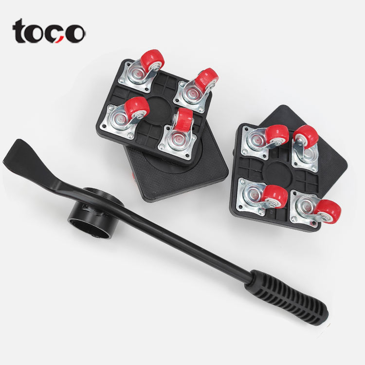 TOCO Heavy Furniture Lifting Moving Handling Tool Heavy Move House Accessories 5pcs furniture lifter sliders kit