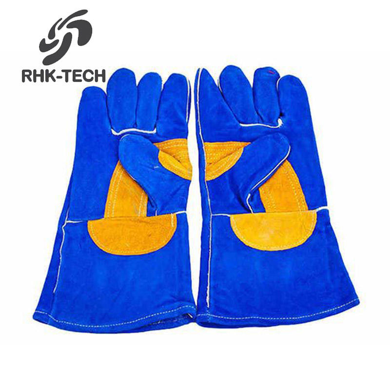 35cm Heat Resistant Better Cow Leather TIG MIG Industrial Welding Gloves
