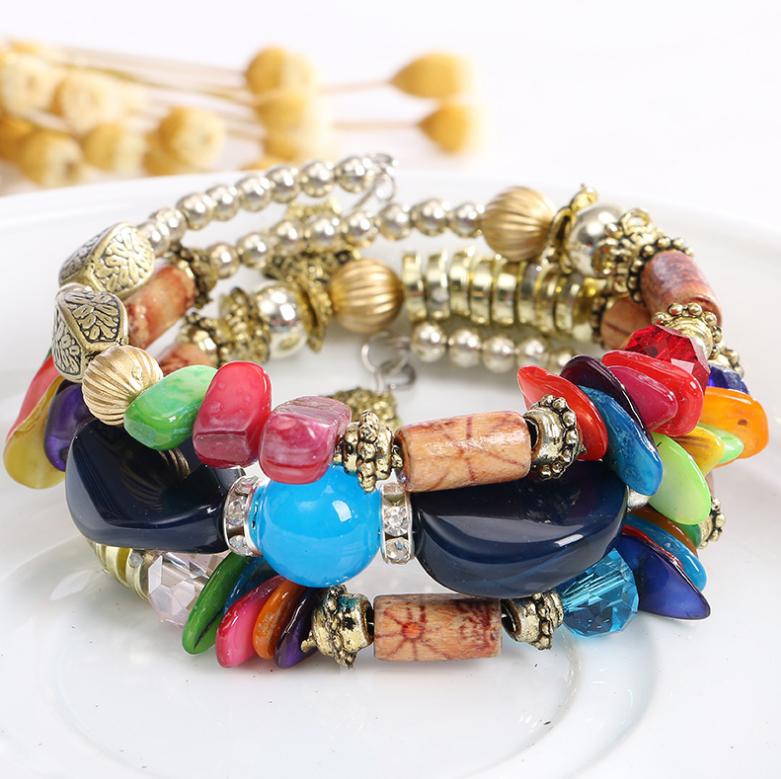 Trendz Offre Spéciale pierres de cristal perle bracelet pour femme et homme