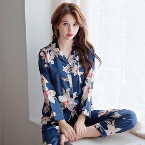 ladies night wear 100 polyester satin pajama sleepwear
