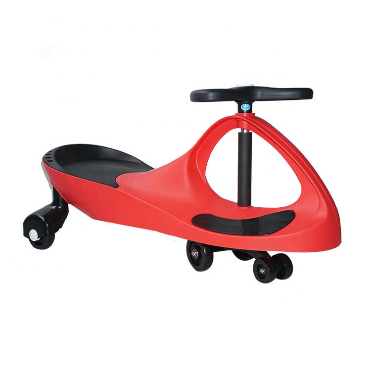 Indoor and outdoor rolling plastic material easy take children twist car cheap kids swing car for 3-10 years old child