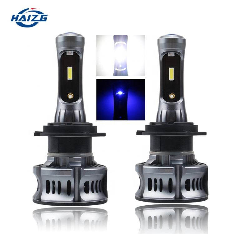 HAIZG auto LED light system xt7 headlights blue lighting car led light 9005 9006 H11 headlights h7 h4 led