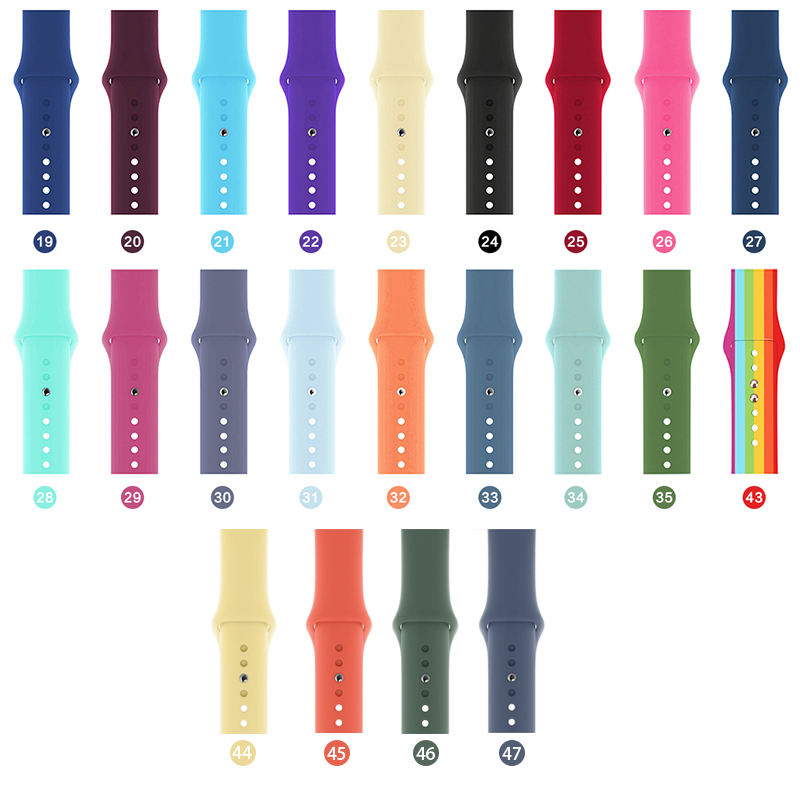Silicone For apple watch strap band iwatch 6 44mm 40mm applewatch 5 4 3 2 1sports strap 42mm 38mm Wrist Bracelet Watch bands