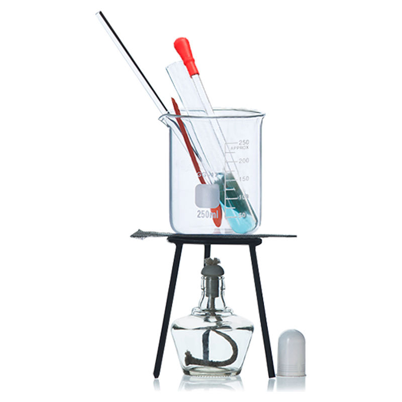Alcohol lamp heating set laboratory beaker stirring rod test tube beaker tripod laboratory chemical heating instrument