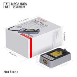 QianLi Hot Stone one button to heat up for perform glue and tin removing operation for phone IC CPU finger print cable