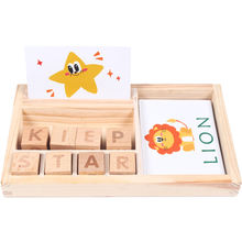 Hot Selling Portable Multifunctional Wooden Matching Letter Game Toys New Design Kids Early Learning Educational Blocks Toys