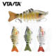 7 Sections Artificial Baits Swimbait Fishing Lure Hard Bait Minnow Crankbait Wobblers Bass Pike Carp Lures 15.5g