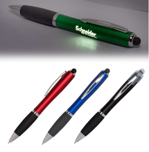 Customizable Promotional Plastic Blue Light Ballpoint Pen with Led Logo