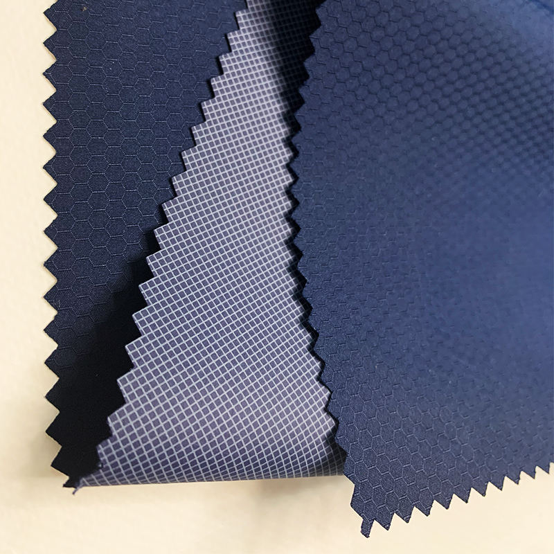 factory yarn dyed waterproof PU coated polyester outdoor furniture jacket rib Clothes fabric