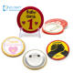 Wholesale blank metal tin clear printing magnetic promotional round 25mm 37mm cheap funny custom button badge pins