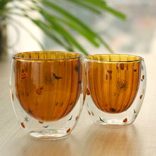 Guaranteed Quality double wall coffee custom printing borosilicate glass cup drinkware glass
