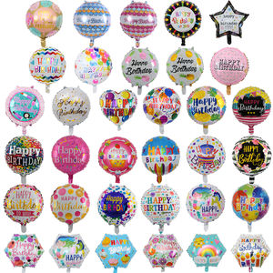 Children Birthday Inflatable Toys Ballons 18inches Globos Happy Birthday Foil Balloons For Party Decoration Party Accessories