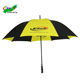 dhl blue and yellow promotion golf umbrella with wood handle material