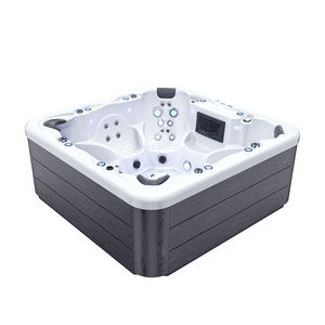 Factory wholesale balboa control system outdoor 7 person whirlpool massage bathtub spa hot tubs