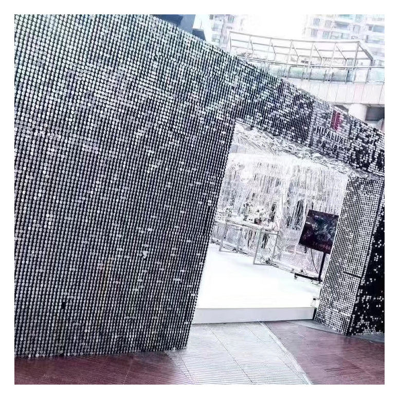 LDJ1175 Modern wedding hotel decoration shimmer sequin wall panel