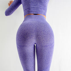 Wholesale new style push up leggings hot sale high waisted workout womens gym seamless leggings