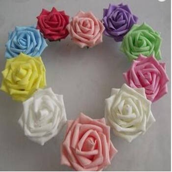8cm Diameter PE Foam Rose Artificial Flower Bouquets For Home Garden DIY Wreaths Wedding Party Decoration Supplies