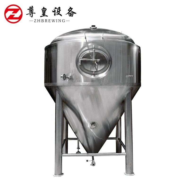 3000L Stainless Steel Beer Fermenter Conical Cooling Tank Fermentation Vessel
