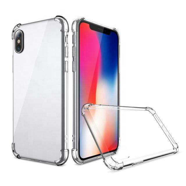 For iPhone 11 7 8 X Max XR case transparent, slim bumper raised corner back phone cover for iphone xr dustproof shockproof case