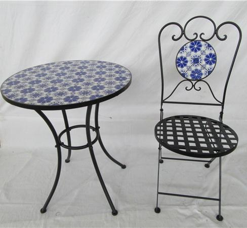 cheap iron outdoor garden table and chair garden mosaic table chairs outdoor mosaic Bistro set table mosaic pattern