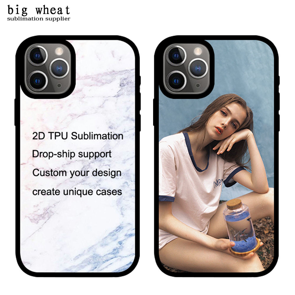 Dropshipping Telefoon Case Ontwerp Custom Private Label Mobilephone Telefoon Case voor iphone 11 pro 2D Sublimatie TPU Case Telefoon