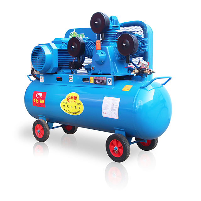 Food Beverage Factory [ Tank Air Compressor ] 160l Gas Displacement 1m3/min 0.8Mpa Tank 160 Litre 7.5kw Medical Portable Air Compressor For Sale