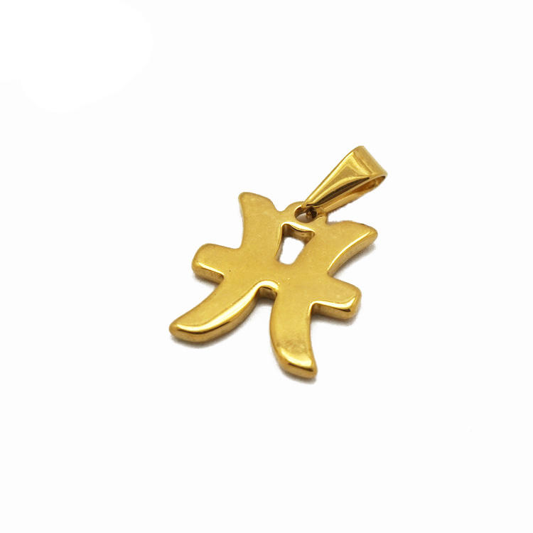 Olivia new popular Minimalist jewelry astrology constellations pendant 18k gold stainless steel 12 zodiac signs pendant charm