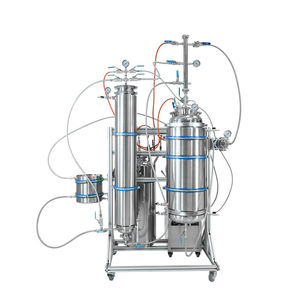 RF Sanitary SS304 Sleeved Dewaxing Column Hemp Oil Extraction Equipment with Collection Vessel