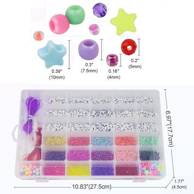 Jewelry Making Kit Bead Craft Kit Set for Bracelets Pony Seed Letter Alphabet Bead DIY Art and Craft
