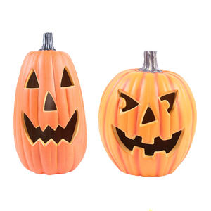 hot sale party supplies outdoor decoration LED Halloween plastic pumpkin lamp