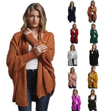 factory readymade Autumn women pure soft Long Cardigan mujer Loose Batwing sleeve oversized Knit cardigan Sweater