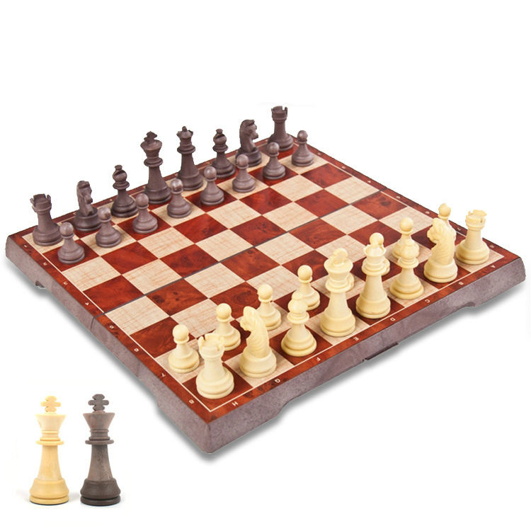Puzzle game adult fold wear resistant magnetic chess set