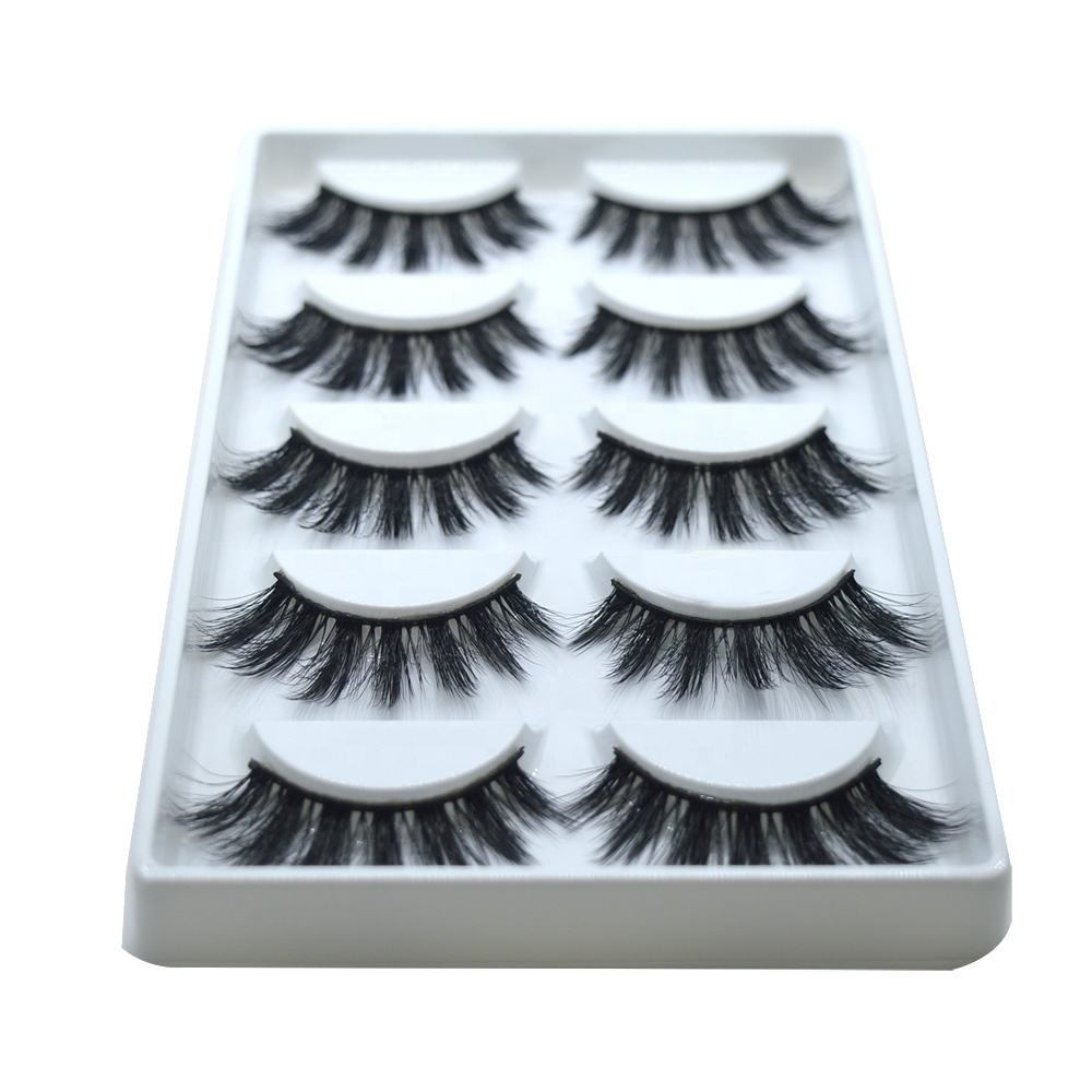 Premium quality synthetic silk false eyelashes 5 paris on sale