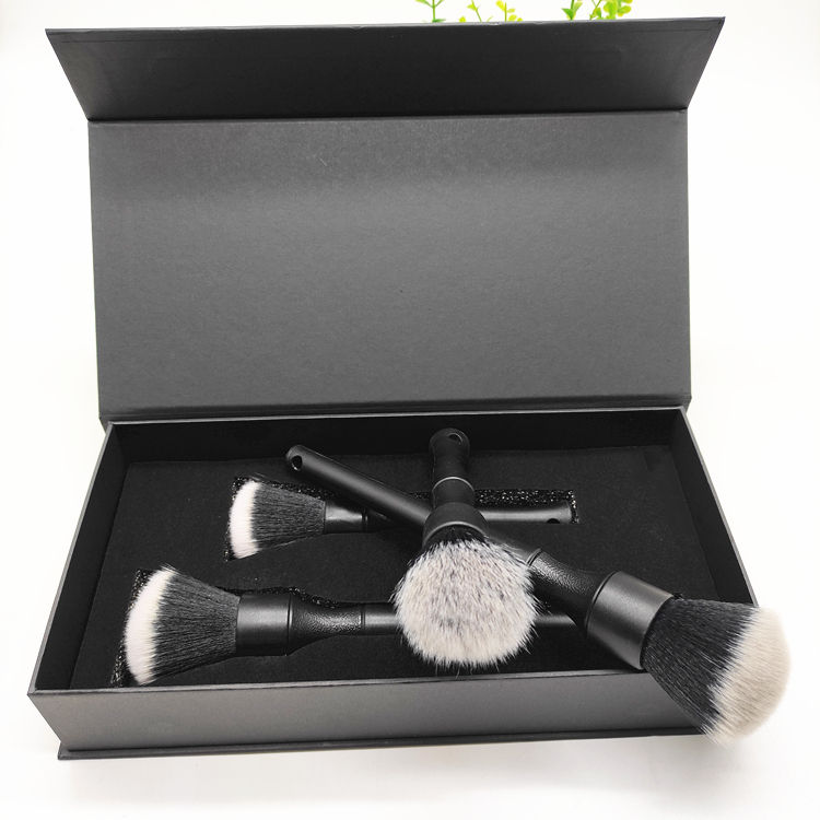 Beautiful Packing Box With Brushes Cleaning Auto Detailing