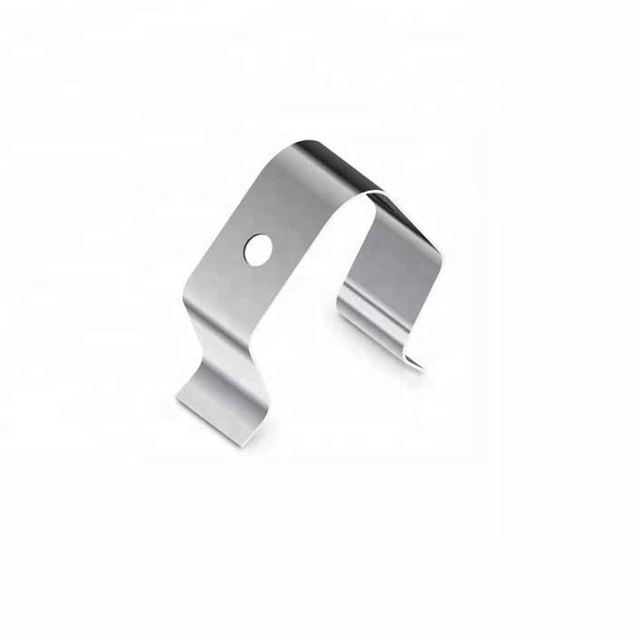Custom stainless steel stamping flat leaf spring clips