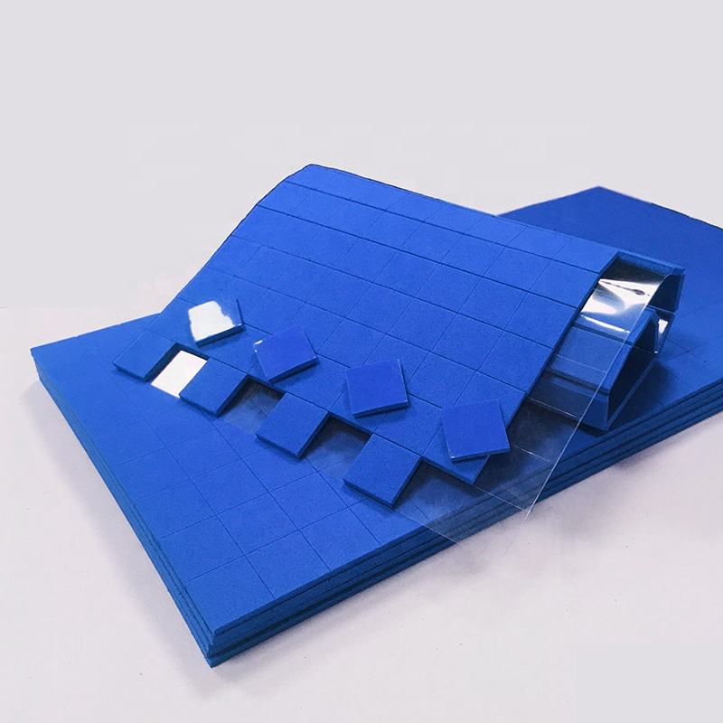 Blue EVA Rubber Protector Foam Pads for Glass