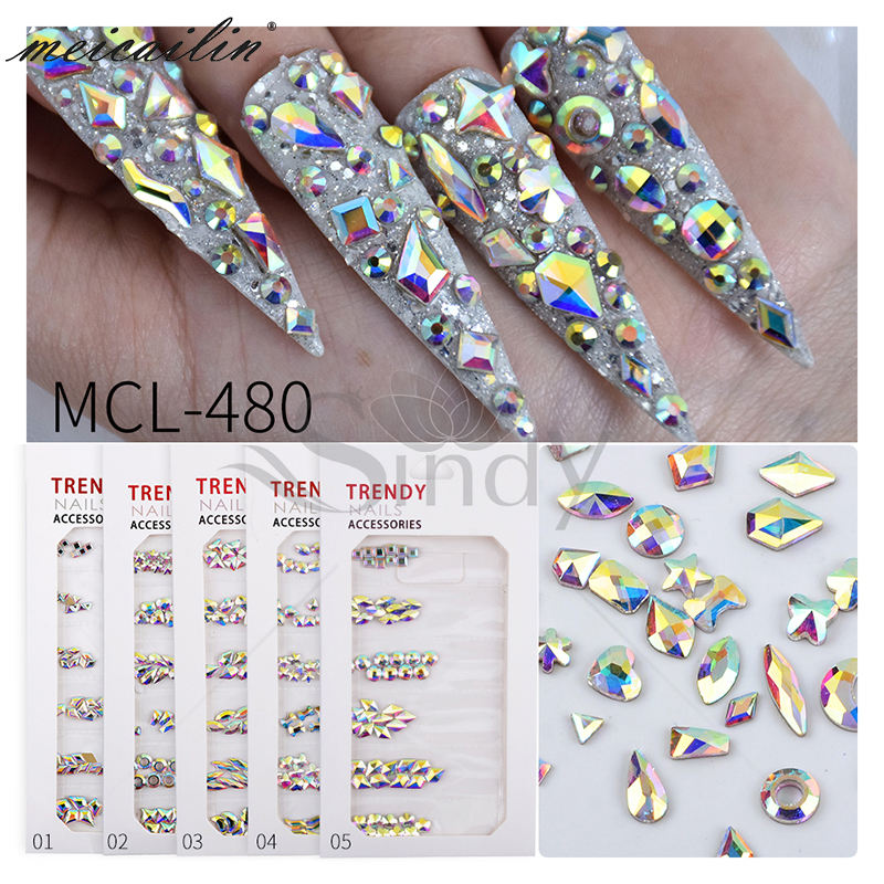 Amazon Best Seller Nail Crystals Rhinestones Nail Accessories