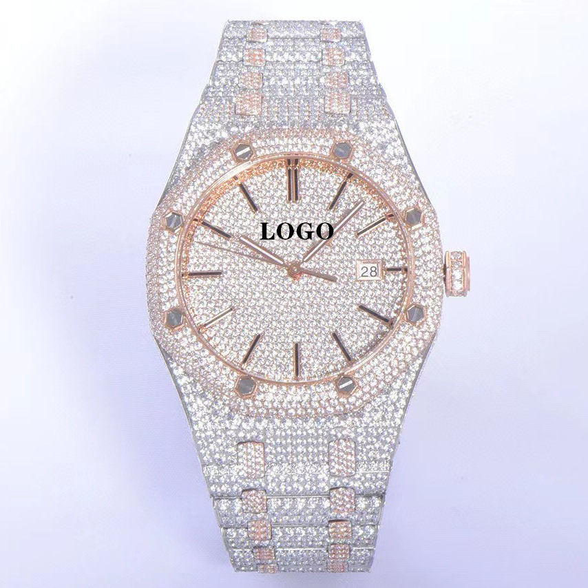Taucher Wasserdichte Uhr Saphirglas Glass piegel Cal.3120 Uhrwerk 15500 41mm Gypsophila Diamant kristall Royal Offshore AP w